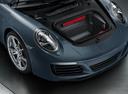 Фото авто Porsche 911 991 [рестайлинг], ракурс: багажник цвет: мокрый асфальт