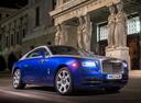 Фото авто Rolls-Royce Wraith 2 поколение, ракурс: 315 цвет: голубой