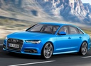 Фото авто Audi A6 4G/C7 [рестайлинг], ракурс: 45 цвет: голубой