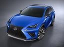 Фото авто Lexus NX 1 поколение [рестайлинг], ракурс: 45 цвет: синий