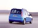 Фото авто Skoda Roomster 1 поколение, ракурс: 225 цвет: голубой