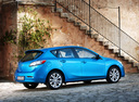Фото авто Mazda 3 BL, ракурс: 225 цвет: голубой