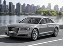 Фото авто Audi A8 D4/4H [рестайлинг], ракурс: 45 цвет: серый