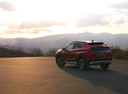 Фото авто Mitsubishi Eclipse Cross 1 поколение, ракурс: 135 цвет: бордовый