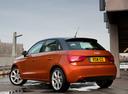 Фото авто Audi A1 8X, ракурс: 135 цвет: оранжевый