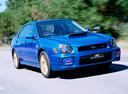 Фото авто Subaru Impreza 2 поколение, ракурс: 315 цвет: синий