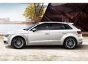 Фото авто Audi A3 8V, ракурс: 90 цвет: белый