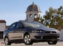 Фото авто Mitsubishi Lancer X, ракурс: 315 цвет: серый