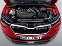 Фото авто Skoda Kamiq 1 поколение, ракурс: двигатель цвет: красный
