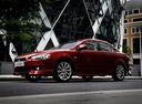 Фото авто Mitsubishi Lancer X, ракурс: 90 цвет: красный