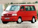 Фото авто Volkswagen Caravelle T4, ракурс: 45 цвет: красный