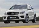 Фото авто Mercedes-Benz M-Класс W166, ракурс: 45 цвет: серебряный