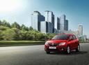 Фото авто Renault Sandero 2 поколение [рестайлинг], ракурс: 45 цвет: красный