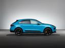 Фото авто Porsche Macan 1 поколение [рестайлинг], ракурс: 270 - рендер цвет: голубой