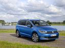 Фото авто Volkswagen Touran 2 поколение, ракурс: 315 цвет: синий