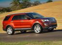Фото авто Ford Explorer 5 поколение [рестайлинг], ракурс: 270 цвет: красный