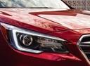 Фото авто Subaru Legacy 6 поколение [рестайлинг], ракурс: передние фары цвет: красный