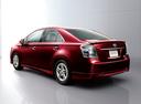 Фото авто Toyota Sai 1 поколение, ракурс: 135 цвет: вишневый