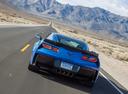 Фото авто Chevrolet Corvette C7, ракурс: 180 цвет: голубой