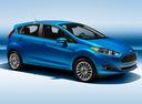 Фото авто Ford Fiesta 6 поколение [рестайлинг], ракурс: 270 - рендер цвет: голубой