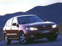 Фото авто Nissan Almera N16, ракурс: 315 цвет: бордовый