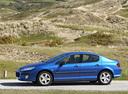 Фото авто Peugeot 407 1 поколение, ракурс: 90 цвет: голубой