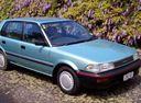 Фото авто Toyota Corolla E90, ракурс: 315 цвет: голубой