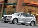 Фото авто Audi A3 8P/8PA [рестайлинг], ракурс: 45 цвет: серебряный
