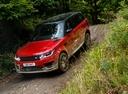 Фото авто Land Rover Range Rover Sport 2 поколение [рестайлинг], ракурс: 45 цвет: красный