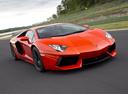 Фото авто Lamborghini Aventador 1 поколение, ракурс: 315 цвет: оранжевый