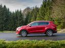 Фото авто Kia Sportage 4 поколение, ракурс: 90 цвет: красный