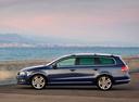 Фото авто Volkswagen Passat B7, ракурс: 90 цвет: синий