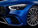 Фото авто Mercedes-Benz AMG GT C190 [рестайлинг], ракурс: передние фары цвет: синий