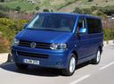 Фото авто Volkswagen Caravelle T5 [рестайлинг], ракурс: 45 цвет: синий