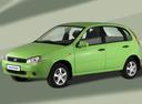 Фото авто ВАЗ (Lada) Kalina 1 поколение, ракурс: 45 цвет: зеленый