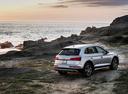 Фото авто Audi Q5 2 поколение, ракурс: 225 цвет: серебряный