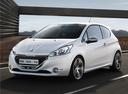 Фото авто Peugeot 208 1 поколение, ракурс: 45 цвет: белый
