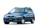 Фото авто Mazda Demio DW, ракурс: 45 цвет: голубой