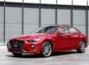 Фото авто Genesis G70 1 поколение, ракурс: 45 цвет: красный