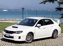 Фото авто Subaru Impreza 3 поколение [рестайлинг], ракурс: 45 цвет: белый