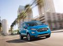 Фото авто Ford EcoSport 2 поколение [рестайлинг], ракурс: 315 цвет: голубой