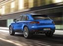 Фото авто Porsche Macan 1 поколение, ракурс: 135 цвет: синий