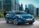 Фото авто Hyundai Elantra MD [рестайлинг], ракурс: 315 цвет: синий