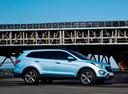 Фото авто Hyundai Santa Fe DM, ракурс: 270 цвет: голубой