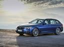 Фото авто BMW 5 серия G30, ракурс: 45 цвет: синий