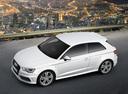 Фото авто Audi A3 8V, ракурс: сверху цвет: белый