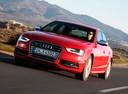 Фото авто Audi S4 B8/8K [рестайлинг], ракурс: 45 цвет: красный