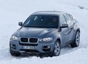 Фото авто BMW X6 E71 [рестайлинг], ракурс: 45 цвет: серый
