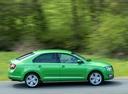 Фото авто Skoda Rapid 3 поколение [рестайлинг], ракурс: 270 цвет: зеленый