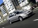 Фото авто Kia Spectra 1 поколение [рестайлинг], ракурс: 315 цвет: серебряный